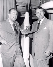 WALT DISNEY AND DR. WERNER VON BRAUN, 1954